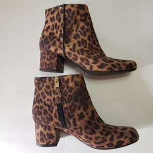 Sam & Libby Ankle Boots Leopard size 7